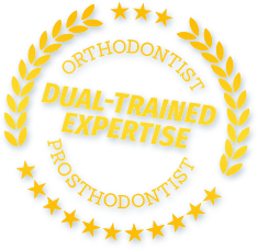 Dual Trained Prosthodontist and Orthodontist seal